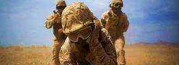 Braced for impact - USMC photo