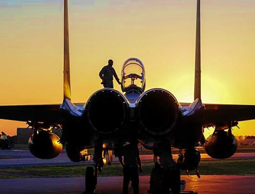 F15E sunset - USAF photo
