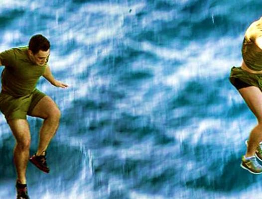 Water jump - USMC photo