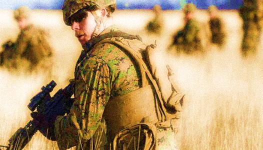 Marines on Patrol - USMC photo