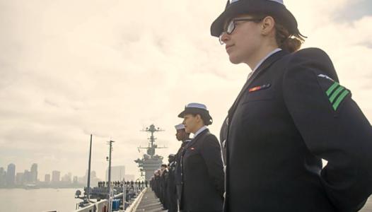 On the rail - US Navy photo