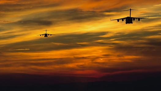 Sunset Short Final - US Air Force photo