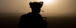 Marine on Sunset Patrol Desert - US Marine Corps photo